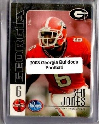 2003 Georgia Bulldogs college football team set (18 cds) w/ Greene & Pollack