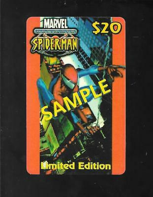 Ultimate Spider-ManPhone Card Limited Edition CallingCards 2002 SAMPLE expired
