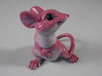 Kitty's Critters Weensy The Mouse Pink Kitty Cantrell Figurine Rare Retired