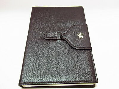 ROLEX Brown Leather Note Pad & Paper 071.06.06
