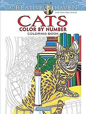Creative Haven Cats Color by Number Coloring Book (Adult Coloring), Toufexis, Ge