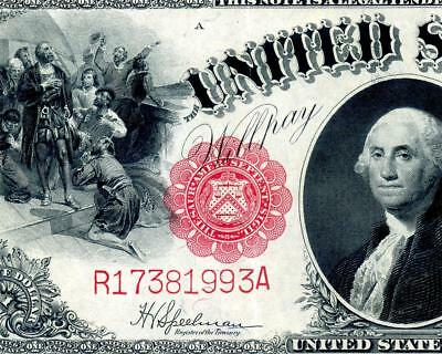 HGR SUNDAY 1917 $1 Legal Tender ((Gorgeous)) Appears NEAR UNCIRCULATED