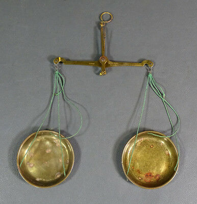 ANTIQUE BRASS Coin Balance Scales Solingen Coutinho Caro Co Germany SOLINGEN