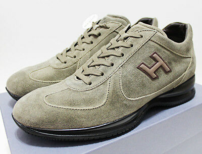 1ae4522ecdc3 NIB  445 Italy HOGAN BY TOD S Green-Suede Chunky Sports Sneakers Trainers  10.5