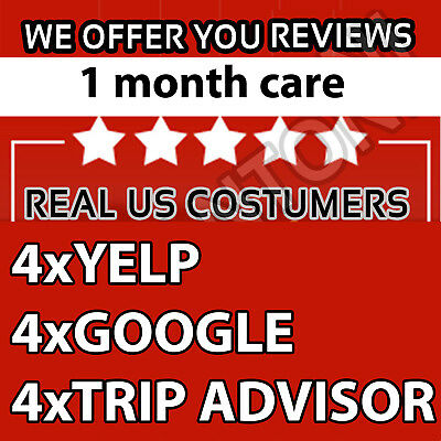 1 Month Care - Yelp,Google,TripAdvisor reviews REAL US COSTUMERS