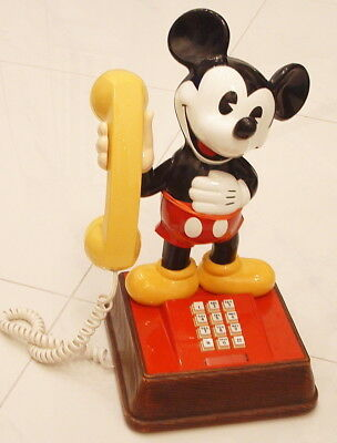 1980s WALT DISNEY MICKEY MOUSE FIGURAL TABLETOP TELEPHONE NICE WORKING CONDITION