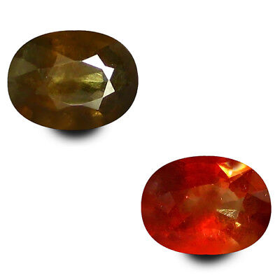 1.30 Ct Charming! 100% Natural Brown To Red Color Change Garnet