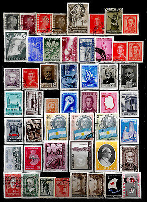 Argentina: 1950's Stamp Collection Many Unused + Never Hinged