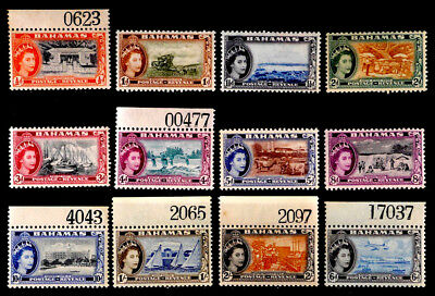 Bahamas, British: 1954 Mint Never Hinged Stamp Collection With Plate # Singles