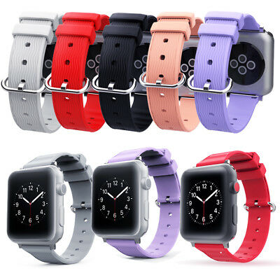 Silicone Sports Wristband Straps 38/42mm 40/44mm For Apple Watch Series 4 3 2 1