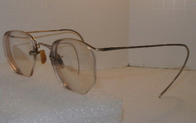 Vintage Ao American Optical 1/10 12K Gf Gold Filled Half Rim Eyeglasses! Antique