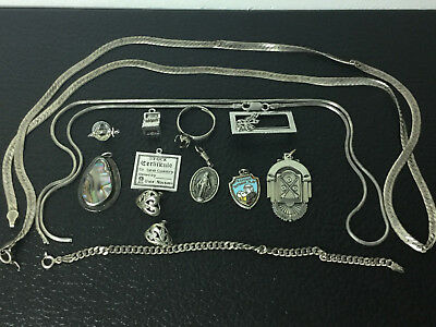 Sterling Silver (.925) (76.8 Grams) All Marked Scrap Jewelry