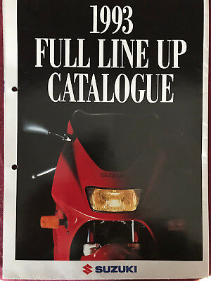 Suzuki Full Line Up Catalogue Gesamtprospekt / Poster 1993 Brochure Prospect GB