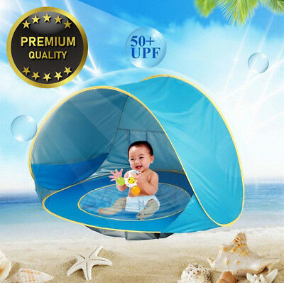 HBONE Outdoor Automatic Pop up Baby Beach Tent Infant Portable Cabana Shade...