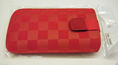 Phone Case Cover Pouch Red Samsung I9300 Galaxy S3 III with Belt Loop
