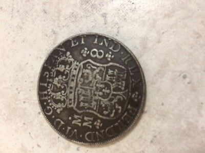1756 Mexican 8 Reales SPANISH COLONY Mexico Rare Silver Coin