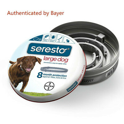 Authentic Bayer Seresto Flea and Tick Collar For Large Dogs--Long Protection