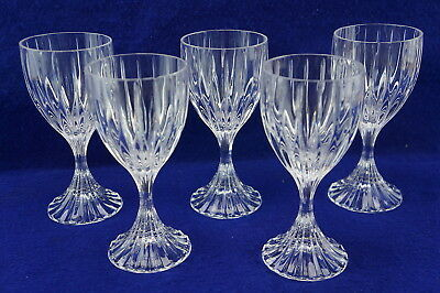 "Mikasa Park Lane Crystal (5) Wine Glasses, 6 3/8"" (Box2)"