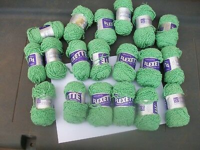 19 ozs 500 grams twilleys flexette terry cotton with stretch bobble yarn green