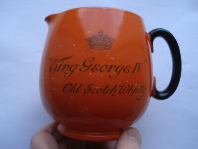 "C1930S Vintage ""king George Iv"" Old Scotch Whisky Shelley Made Adv Water Jug"