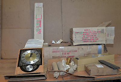Rare early Ritz Emperor Grandfather clock kit 1960's German movement mahogany