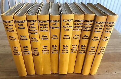 Mary Tourtel LITTLE BEAR LIBRARY X 10 1st Editions Prof Respined/rebound Good