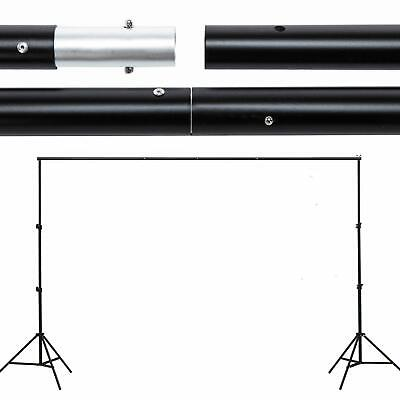Support Stand Photo 10ft Photography Background Backdrop Crossbar Kit Adjustable