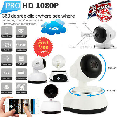 Home Security IP Camera WiFi Baby Pet Dog Monitor Smart phones Tablets HD Webcam