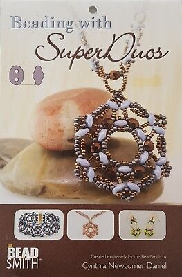 Beadsmith Beading with SuperDuos Booklet Jewellery Making - FREE POST