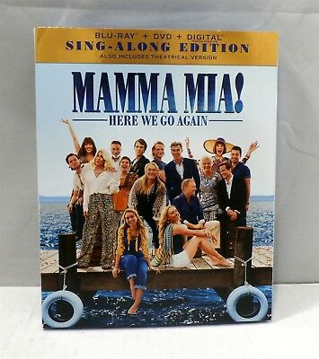 Mamma Mia Here We Go Again (Blu-ray/DVD, October 23, 2018) Rated PG 13