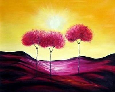 CHOP261 modern Impressional hand-painted oil painting on canvas:landscape tree