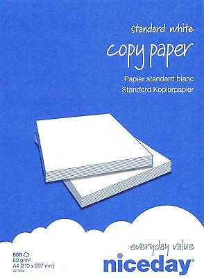 Copy Paper White 80Gsm A4 Wrapped 1 Box Containing 5 Ream Of 500 Sheets