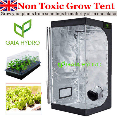 Small Grow Tent Kit Home Seed Box Plant Hydroponics Bud Dark Room 50x50x100CM  sc 1 st  PicClick UK & SMALL GROW TENT Kit Home Seed Box Plant Hydroponics Bud Dark Room ...