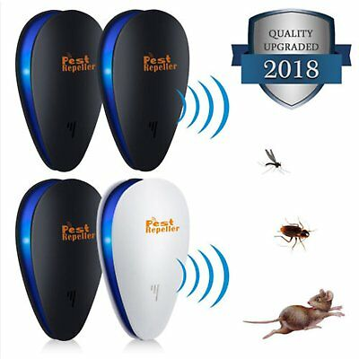 4 Pack Ultrasonic Pest Repeller Repellent Rat Mouse Spider Insect Electric Plug