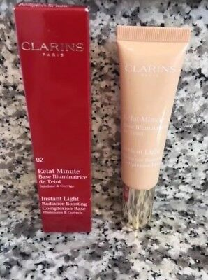 Clarins Instant Light Radiance Boosting Complexion Base 02 Champagne - Uk Seller