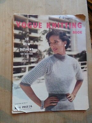 Vintage Vogue Knitting Book No 41, 1960's, 35 New Designs