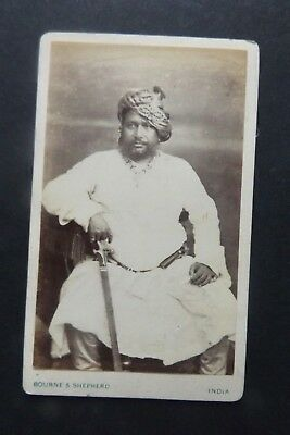 Vintage - Bourne & Shepherd -India - Portrait CDV- Named on Reverse -19th cent