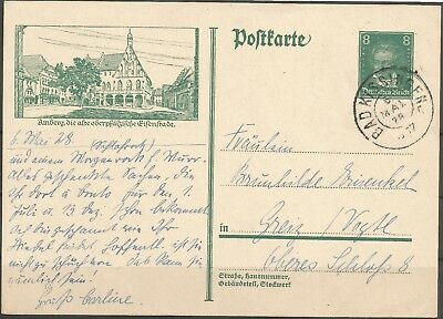 DR 1928 Ganzsachenpostk. P 178 -  8 Pf. d.grün Beeth, Bad Kissingen- Greiz