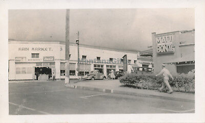 WWII 1940s Wailuku Maui Hawaii photo #4 Main Market & Maui Shopping Center