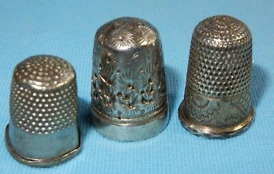 Vintage Collection Of Sewing Thimbles - Various Sizes And Patterns