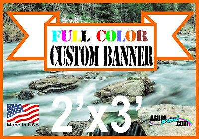 "2'x 3' Full Color Custom Banner High Quality 13oz Vinyl 24""x36"""
