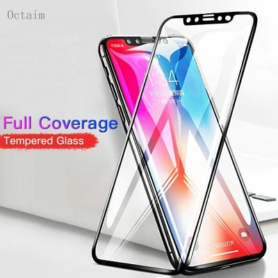 Tempered Glass For iPhone X XS Max XR  8 7 P 3D Full Curved Protective Film For