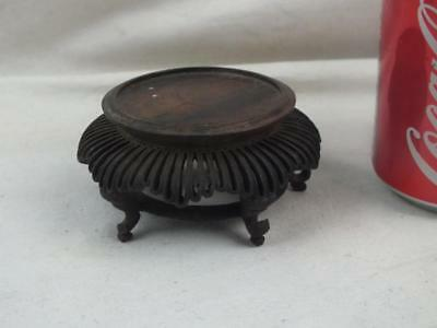 Antique Chinese Pierced Wooden Stand