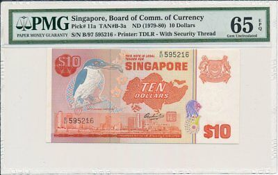 Board of Comm.of Currency Singapore  $10 ND(1979-80)  PMG  65EPQ