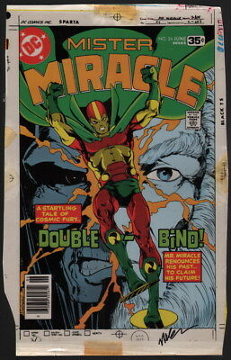 Marshall Rogers Mister Miracle 24 Original DC Color Separation Cover Art SIGNED