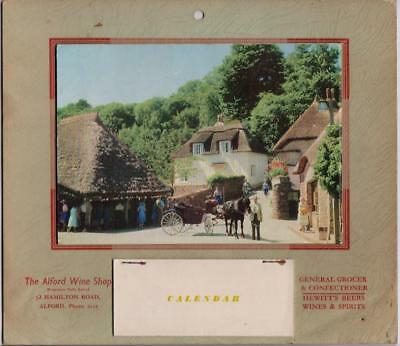 1965 Calendar Cockington Village Devon Advertising Alford Wine Shop Lincs ?
