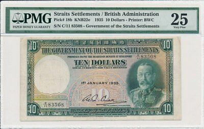 The Government of  Straits Settlements  $10 1935  PMG  25