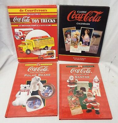 Lot of 4 COCA-COLA COLLECTING Price Guide & Identification BOOKS Santas Trucks