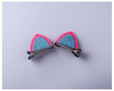 2pcs Cat ear Hair Clips Hairpins Hair Accessories For Kids Baby Girls T52