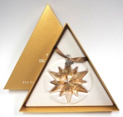2017 Scs Large Annual Gold Ornament Star Swarovski Crystal  5268827